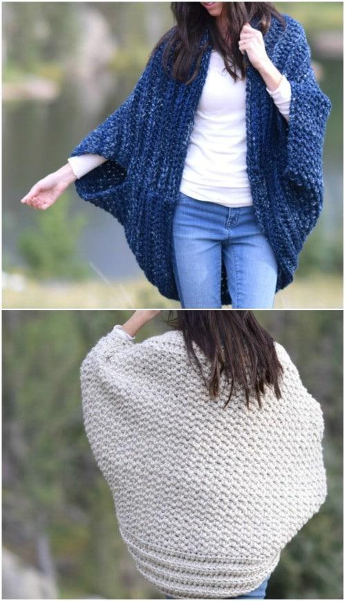 Cozy Crocheted Blanket Cardigan