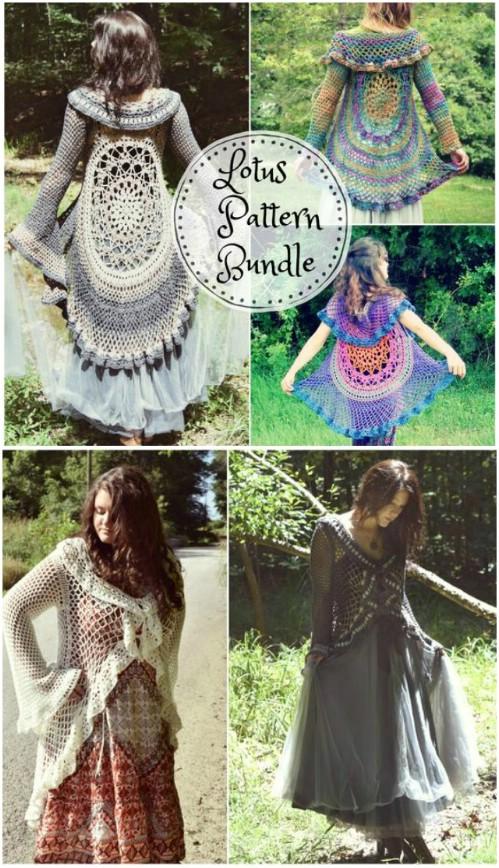 Crochet Lotus Duster Pattern