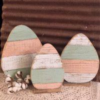 Rustic Farmhouse Distressed Wood Egg Set