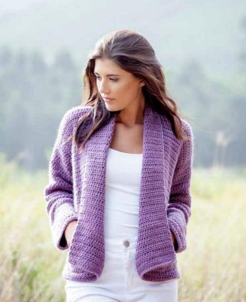 Comfy Pocketed Crochet Cardigan