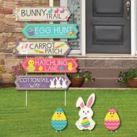 Easter Street Sign Cutouts