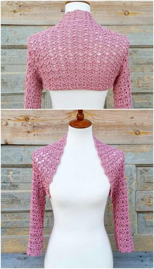 Delicate Crochet Shrug Pattern