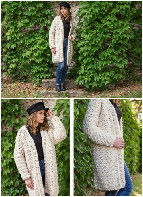Bulky Winter Crochet Cardigan