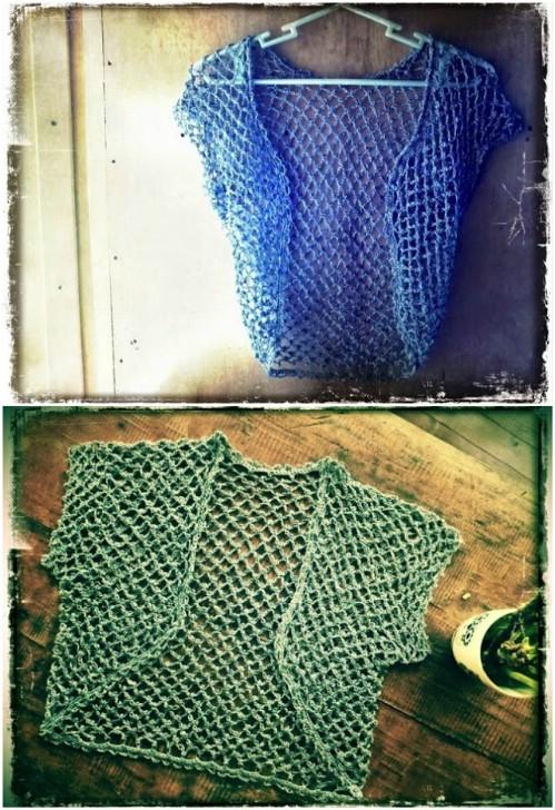 Easy Crochet Bolero Cardigan