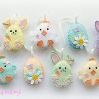 Make Your Own felt Easter Friends Garland Kit