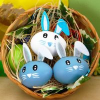 Set Of 3pcs Decorative Easter Eggs