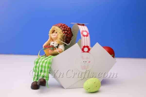 DIY Printable Paper Easter Basket