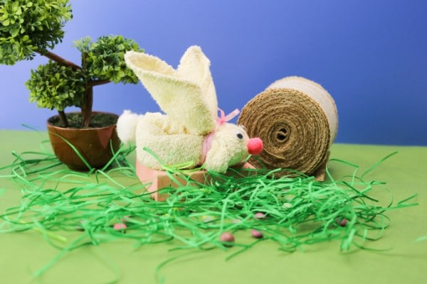 How to Make a Cute Easter Bunny Out of a Small Towel