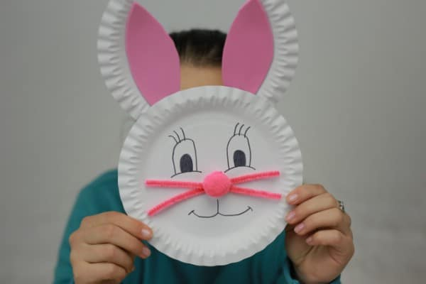 Paper Plate Bunny Face
