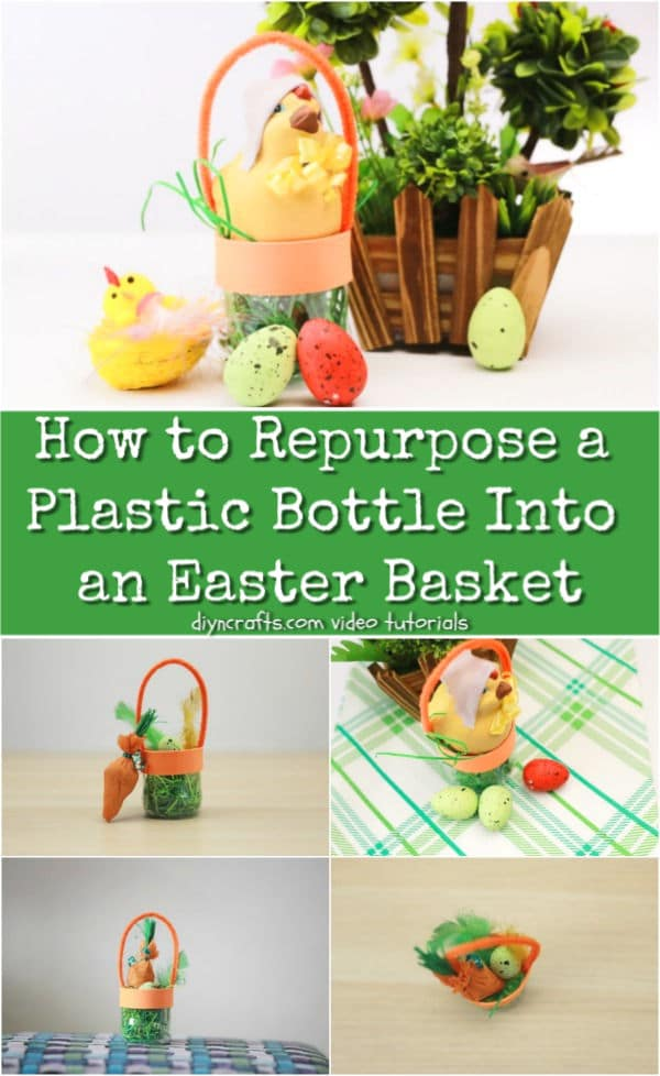 How to Repurpose a Plastic Bottle Into an Easter Basket