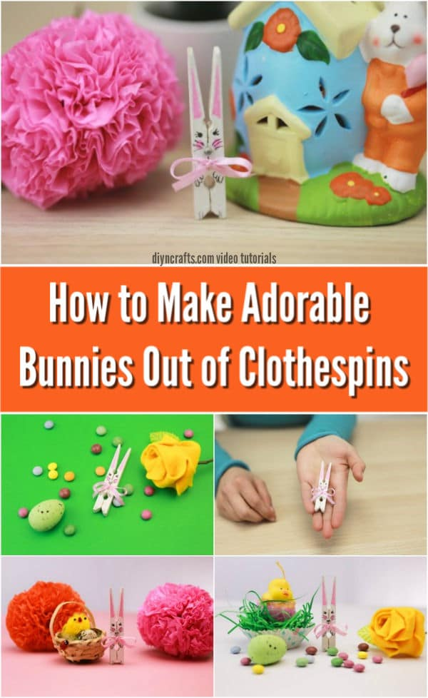How to Make Adorable Painted Bunnies Out of Clothespins