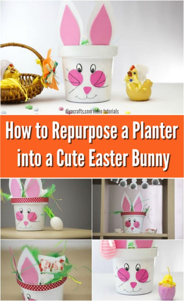 How to Repurpose a Planter into a Cute Easter Bunny