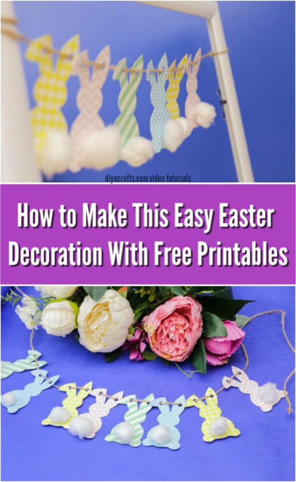 How to Make an Adorable Paper Easter Bunny Garland {Free Printable}