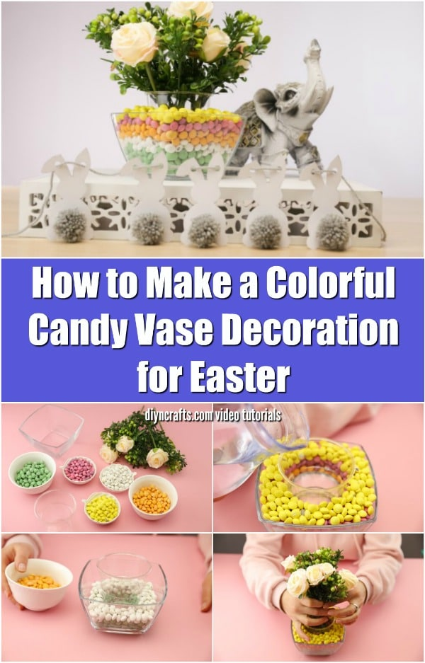 Colorful Candy Easter Vase