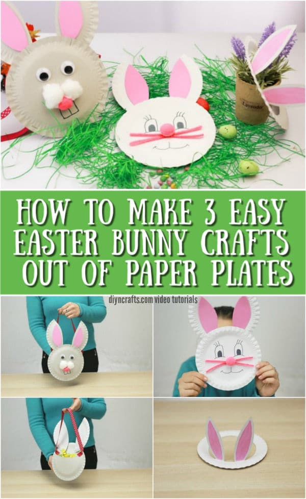 How to Make 3 Easter Bunny Crafts Out of Paper Plates