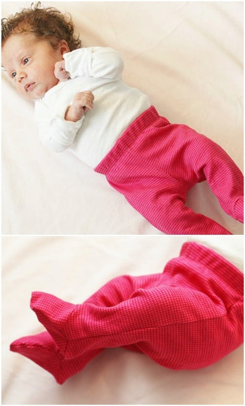 Newborn Footed Pants Pattern