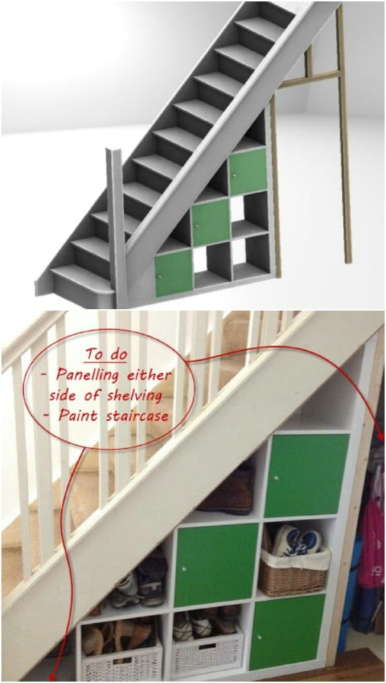 DIY Under Stairs Storage Unit
