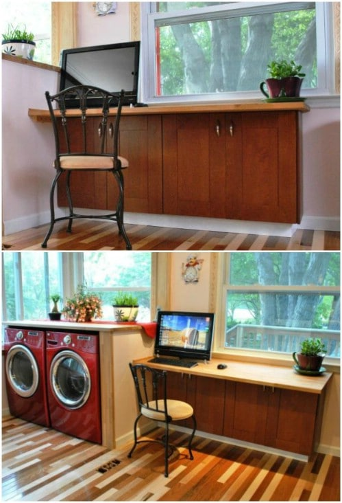 Easy To Build DIY Kitchen Desk
