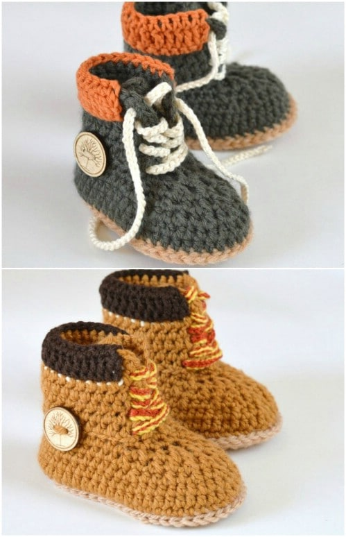Tie Up Crochet Hiking Boots Pattern