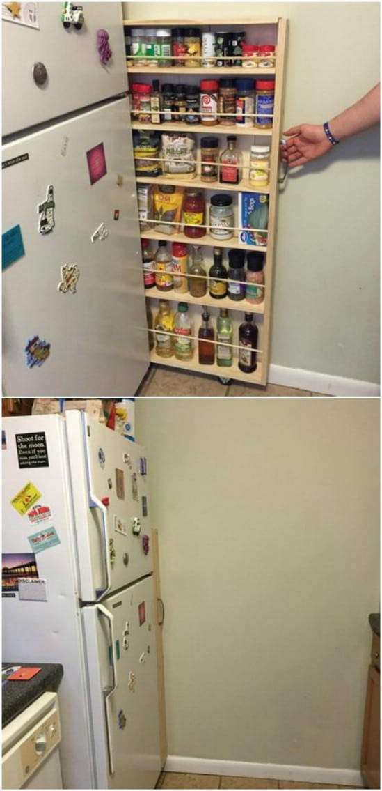 DIY Slide Out Kitchen Pantry