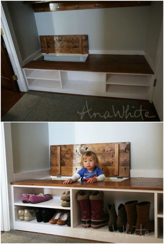Mudroom Hidden Storage Bench