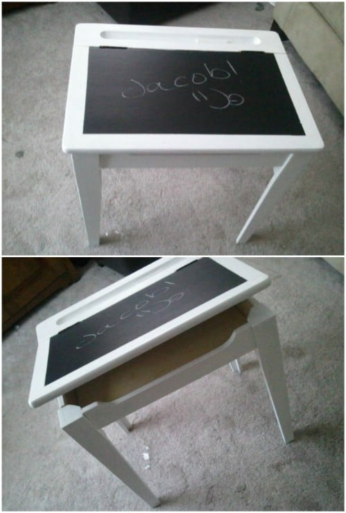 Easy Renovated Chalkboard Desk
