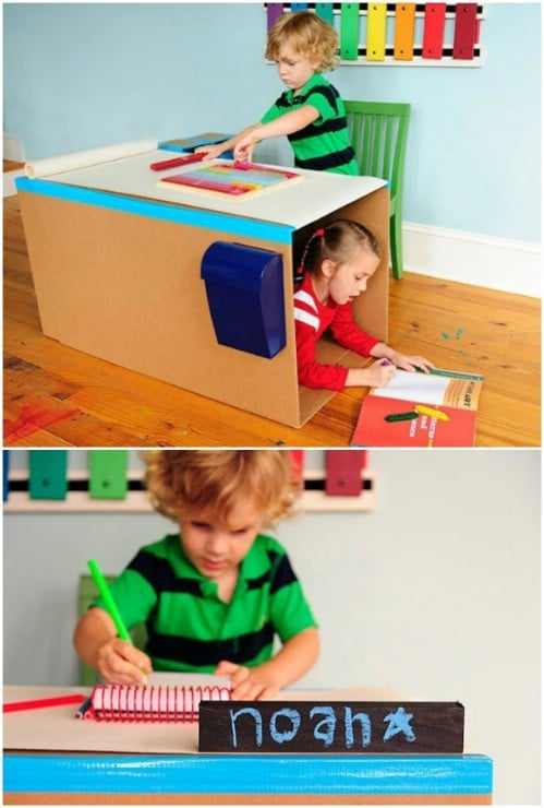 Fast DIY Pop Up Kids' Desk