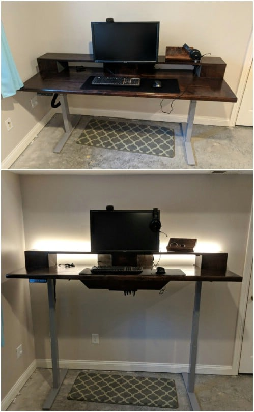 Gorgeous DIY Black Walnut Desk