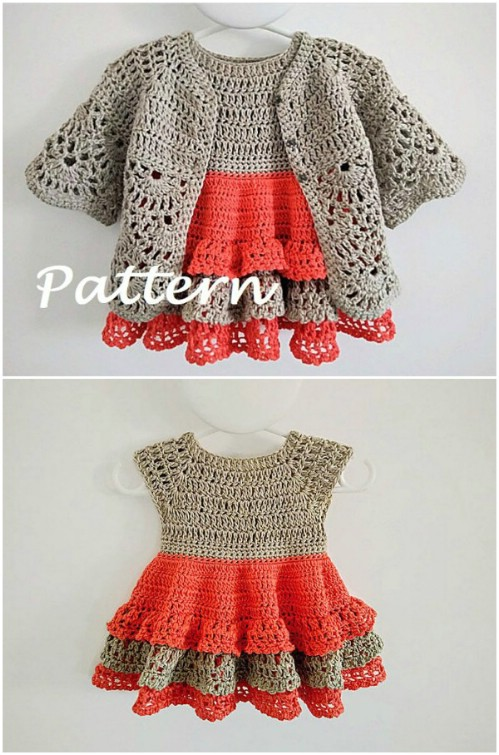 Gorgeous Crochet Baby Girl Jacket Pattern