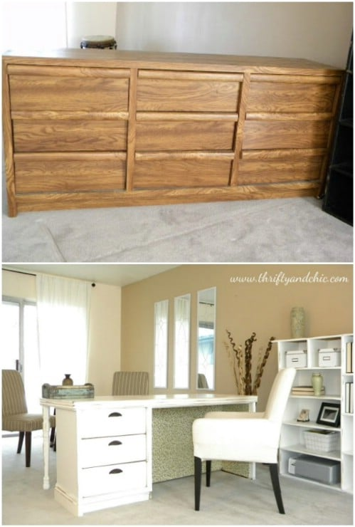 Repurposed Dresser Desk