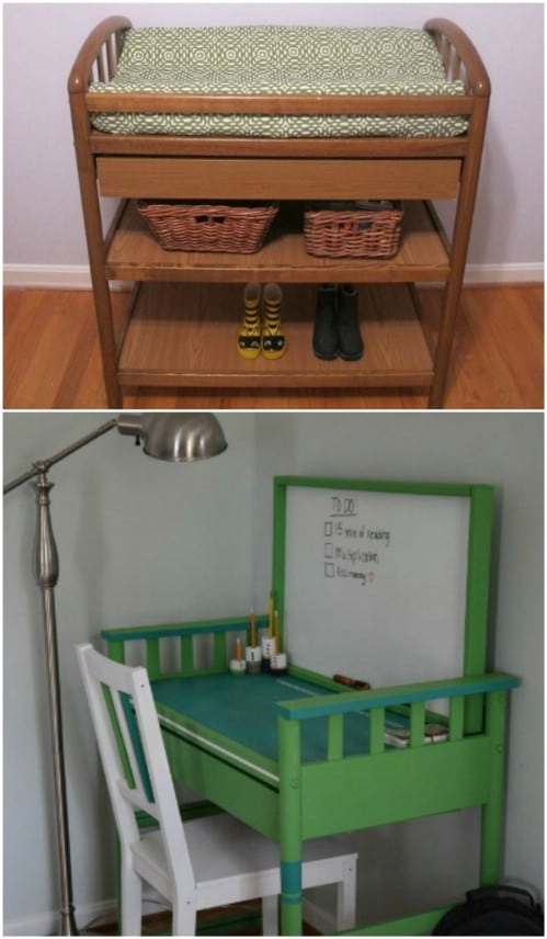 DIY Changing Table Turned Desk