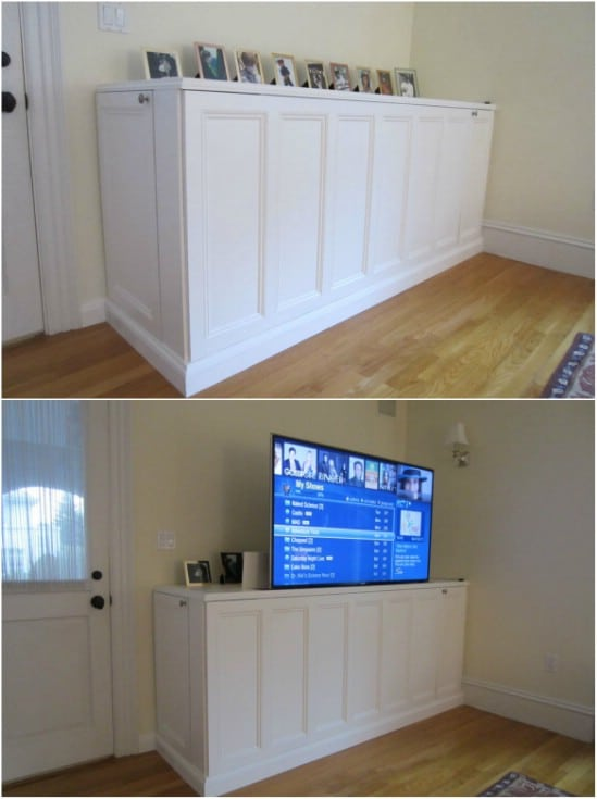 Easy DIY Hidden TV Cabinet