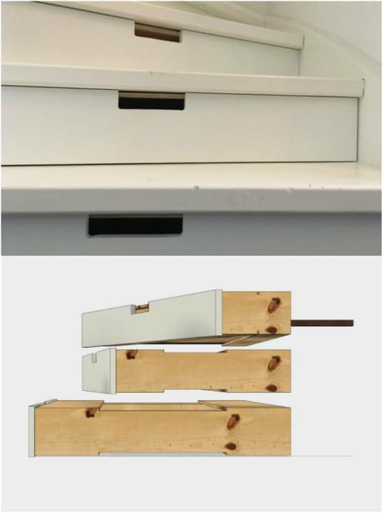 Hidden Staircase Drawers