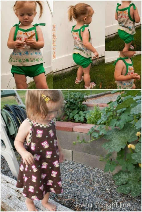 Little Girls' Tops And Bottoms Pattern