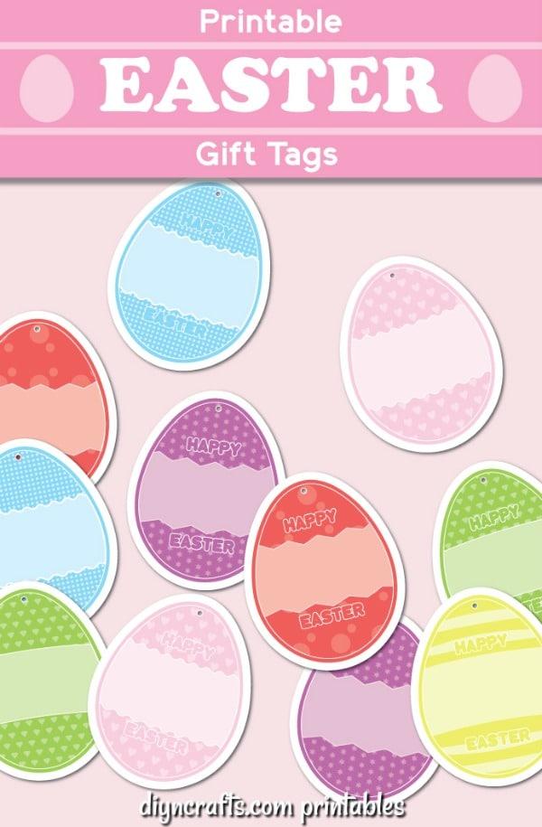 Printable Easter Themed Gift Tags