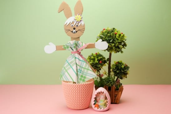 how to make a lovely easter bunny out of cardboard