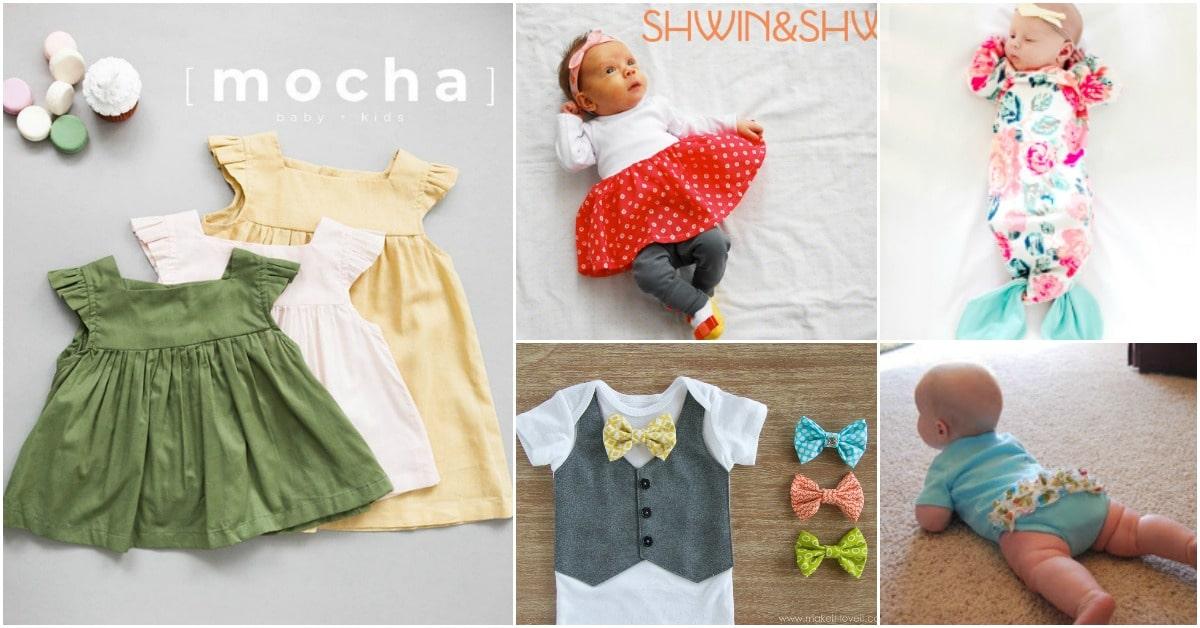 40 Adorable DIY Baby Sewing Patterns Anyone Can DO - DIY ...