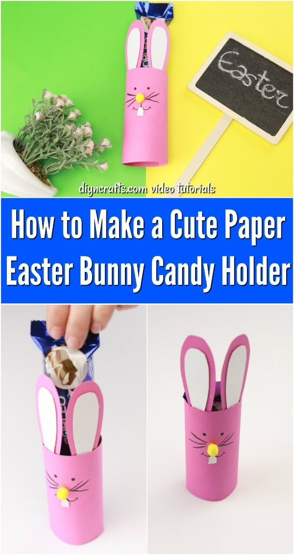 DIY Paper Easter Bunny Candy Holders