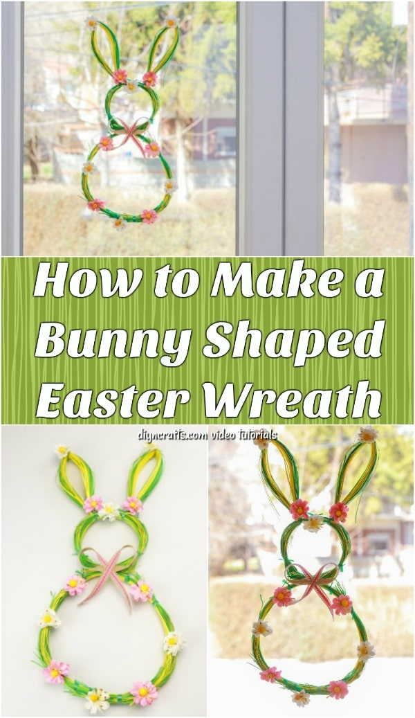 Quick And Easy Bunny Shaped Wreath