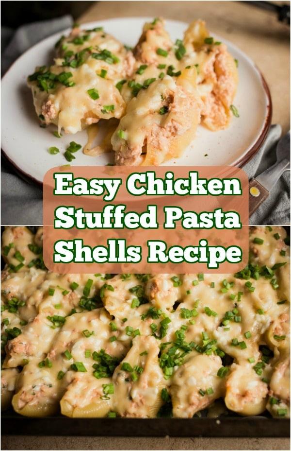 Easy Chicken Stuffed Pasta Shells Recipe