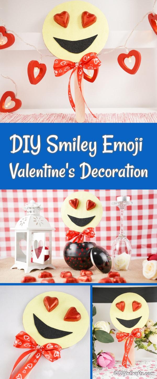 Collage smiley heart eye emoji
